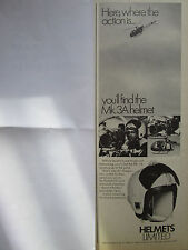 7/1970 PUB HELMETS LIMITED MK.3A HELMET AIR GREGORY FILM TV ALOUETTE 2 CASQUE AD