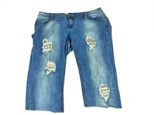 Custom Apple Bottoms Womens Size 11/12 Frayed Distressed Apples Capris A11 01