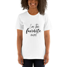 Favorite Aunt t shirt for Women - Cool Funny T-shirts Bella Canvas - Made in Usa