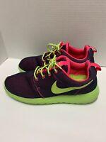 Women's Nike Roshe Run Hyper Grape, Hyper Pink & Volt Mesh Upper, STUNNING! Sz 9