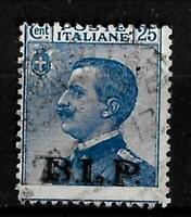 1922/23 - BLP - 2° Tipo - cent 25 - sass 8 - Sopr nera