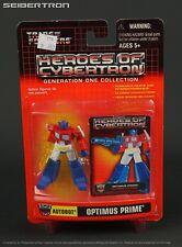Heroes of Cybertron OPTIMUS PRIME + AXE Transformers HOC SCF Hasbro 2002 New