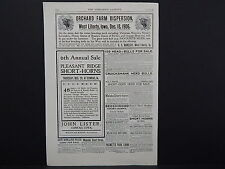 The Breeder's Gazette, Nov. 28, 1906, One Advertising Page, Double Sided #06