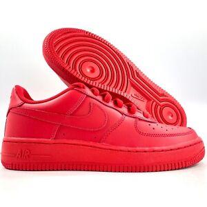 Nike Air Force 1 LV8 GS Low Triple Red DM8875-600 7Y Women's 8.5