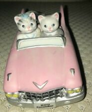 Kitty Cucumber Musical Collectible 1989 'Just Married' PinkCadillac Convertible.