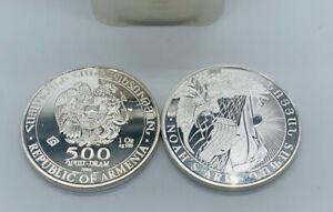 2014 Republic Of Armenia Noah's Ark 1 oz. .999 Silver Coin 500 Dram