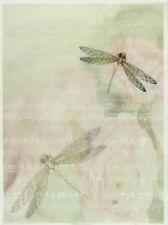 Printed Translucent / Vellum Scrapbook  Paper A/4 Dragonfly