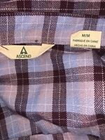 Ascend Women's Flannel Button Down Long Sleeve Plaid Shirt Size Med/ hiking/camp