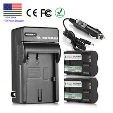 2X 2200mAh BP-511 BP-511A Battery + Charger for Canon EOS 30D 40D 50D 300D G2 G3