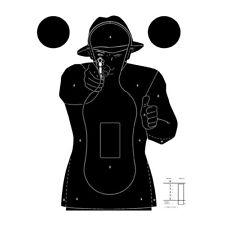 Cible Silhouette Police 51 x 71 cm - Paquet de 20 - Fond Blanc