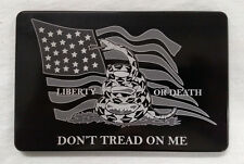 Dont Tread On Me, Gladsen Flag, Billet Aluminum Trailer Hitch Cover, 3x5