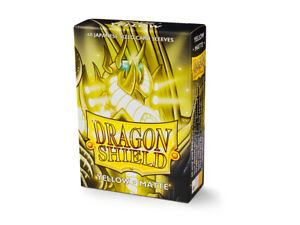 Japanese Matte Yellow Case Display Dragon Shield Sleeves - 10x 60 ct Packs