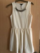 GIRLS CREAM STRETCH FLARED DRESS - CANDY COUTURE - 14-15 YRS