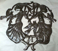 Dancing Girls with Birds Drum Art Metal Wall Hangings Steel Drum Artwork 24""