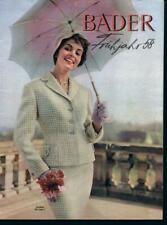 dca97134a7 Bader Katalog 1958 Frühjahr - Hochglanzpapier - Mode, Wäsche,  Lederwaren/Schuhe