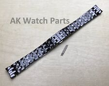 Spare Black Ceramic Strap Fits Emporio Armani AR1478 Watch Band/Bracelet/Link