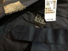 JoS. A. Bank Men's Navy Traveler's Khaki Pants - Size 40W x 27L - NWT $79.50