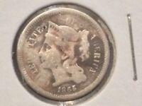 1865 3CN Three Cent Nickel CIVIL WAR ERA COIN