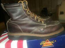 "Thorogood Men's Black Walnut 6"" Moc Non Safety Toe Work Boots, 814-4266 size 8.5"