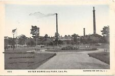Water Works and Park in Erie PA Postcard Glitter