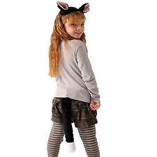 Childrens Cat Ears Tail Set for Animal Feline Pussy Fancy Dress Outfit One Siz