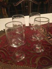 Stemmed Wine Glasses, Crystal Clear Goblets, Glassware Set (4)
