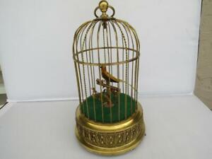 BEAUTIFUL KARL GRIESBAUM GERMAN AUTOMATON SINGING BIRD CAGE MUSIC BOX - C-1880