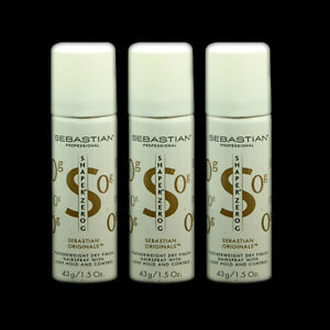 Sebastian Shaper Zero Hairspray (3 CANS) Travel Size ~ Original Formula