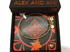 Alex and Ani The Root Chakra Bangle Bracelet Shiny Gold NWTBC