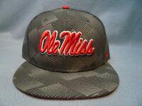Nike Ole Miss Rebels Anthracite BRAND NEW Snapback hat cap Flat Bill Mississippi