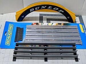 Scalextric 1/32- COMBO slot car guard rail fence + Dunlop bridge! FREE Ship!....