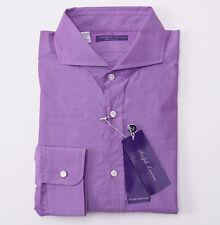 NWT $475 RALPH LAUREN PURPLE LABEL 'Keaton' Superfine Cotton Dress Shirt 17