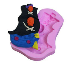 Pirate Ship Silicone Mold for Fondant, Gum Paste, Chocolate, Crafts