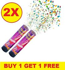 2 X Compressed Air Party Poppers Confetti Cannons Wedding Birthday Shooter 20 cm