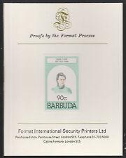 Barbuda (629) 1981 90c Marie Curie HUNGARIAN SU CARTA FORMATO PROVA internazionale