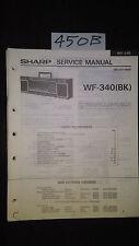 sharp wf-340 bk Service Manual Original Repair book boombox ghettoblaster radio