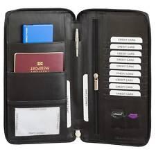 ✅ Travel Wallet RFID UK Passport Ticket Organiser Document Holder Real Leather