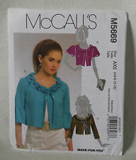 McCall's sewing pattern Misses Jacket M5669 4 6 8 10 12