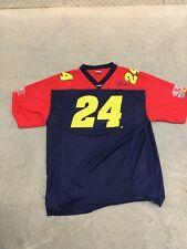 JEFF GORDON #24 Chase Authentics NASCAR Football Jersey - Men's Large DuPont red