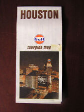 Vintage Gulf Oil Map of Houston Texas - 1973