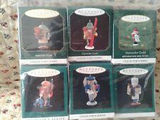Hallmark Miniature Ornaments Lot Of 6 Nutcracker Guild, Collector Series Mib