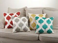 Fennco Styles Stitched Ink Blot Down Filled 20-Inch Decorative Throw Pillow
