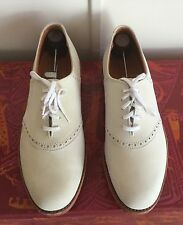 Vintage COLE HAAN White Suede Buck Leather Men's Oxford Shoes Red Soles  Sz. 8.5