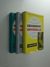 Géographie Universelle Larousse 3 volumes 1959/60 livre
