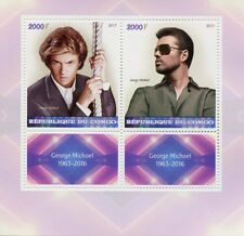 Congo 2017 MNH George Michael 2v M/S Celebrities Pop Stars Music Stamps