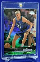 DIRK NOWITZKI UD ENCORE RAINBOW REFRACTOR SP RARE DALLAS MAVERICKS LEGEND HOF