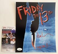 Ari Lehman Autographed Friday The 13th 8x10 Photo Signed Jason Voorhees JSA COA