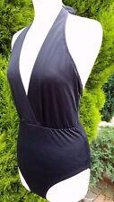Pour Moi libras hundir Halter Suit swimsuit swimming Reino Unido 12 Negro BNWT B223-21