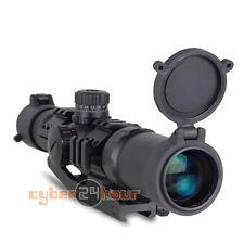 Tactical Aim Sports 1.5-4X30 Tri-illuminated Mil-dot Sight Recon Rifle Scope New