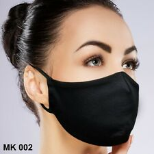 FaceMask 4 COUNT Black Washable Reusable Breathable Fabric with Filter Pocket!